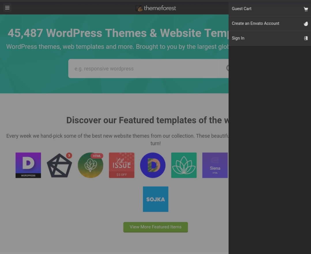 Themeforest options
