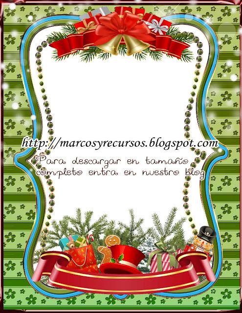 Hermoso marco para fotos con motivo navideño