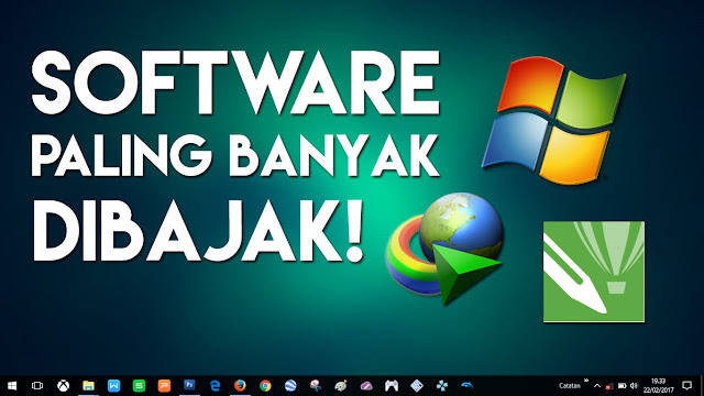 Aplikasi BAJAKAN di bawah ini merupakan yang paling SERING di install pada OS Windows.
