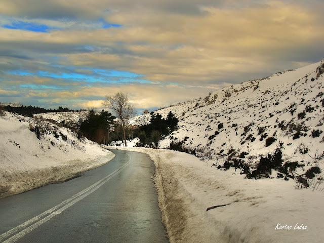 τοπιο,χιονια,παγος,κρυο,χειμωνας,φωτο Κώστας Λαδάς