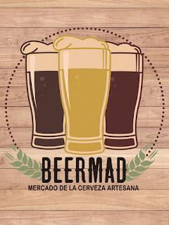 Beermad Mercado de la Cerveza Artesana dorado y en botella