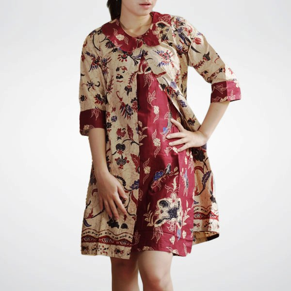 Model Baju Batik Modern Dress: Model Baju Dress Batik Modern Dan Trendy Di Tahun 2015
