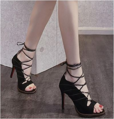 Backless High Heel Shoes