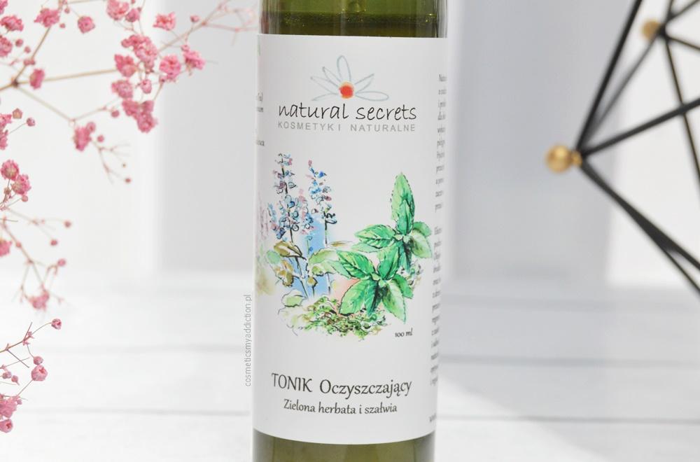 Natural Secrets, Tonik oczyszczający - Zielona herbata i szałwia