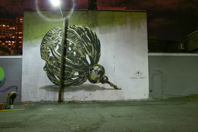 New Street Art Mural By LNY For Savage Habbit On The Streets Of Jersey City, USA. 3