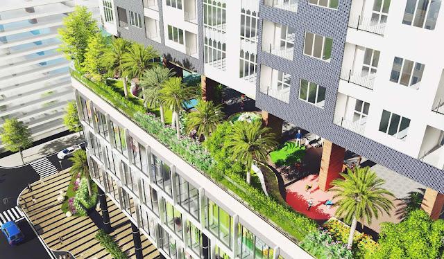 vườn trên cao tại chung cư the golden palm