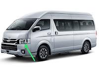 Harga dan Fisik : Lampu Depan Kiri Toyota Hiace Commuter (2018)