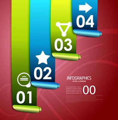 infografia en vector con numeros e iconos