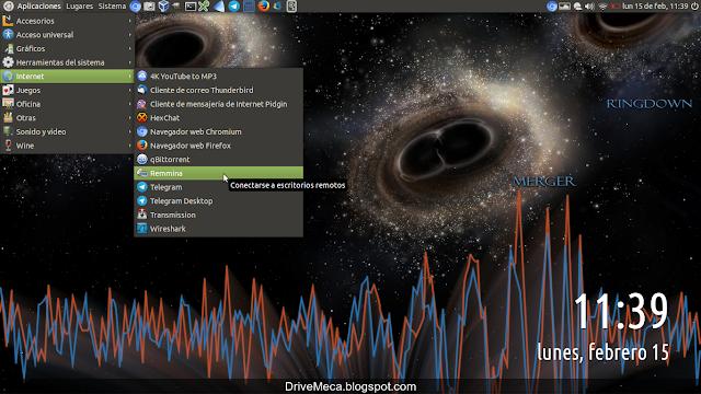 Ejecutamos remmina en nuestro Linux Ubuntu