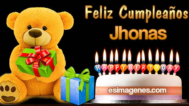 Feliz cumpleaños Jhonas