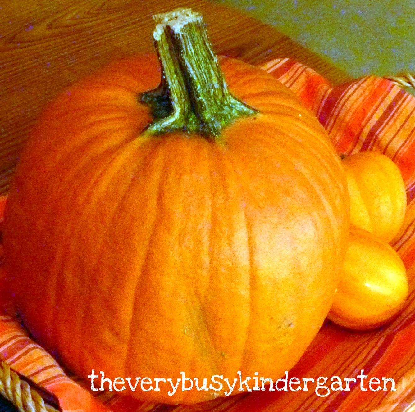 The Very Busy Kindergarten Pumpkin Math