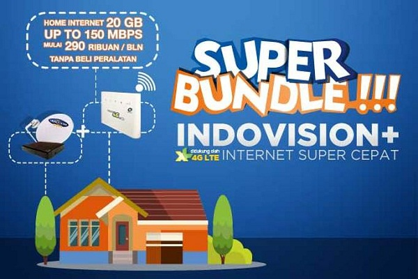 Coverage area paket internet 4G Indovision dan XL.