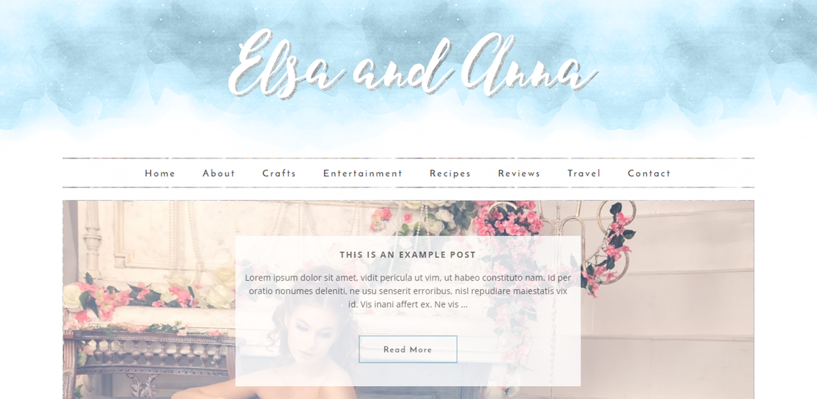 elsa and anna wordpress theme