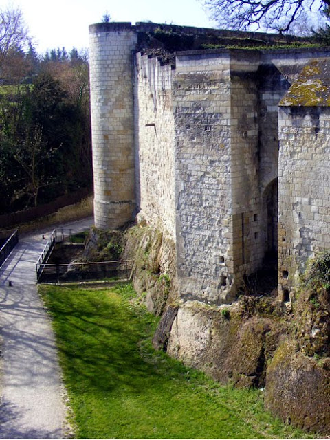 Outer defensive walls of the Chateau of Loches. Indre et Loire. France. Photo by Loire Valley Time Travel.