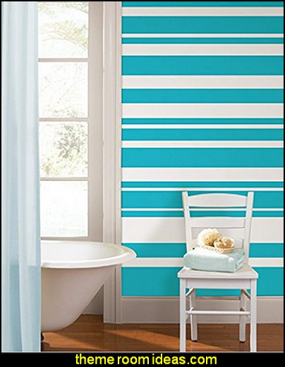 Stripe Wall Decals Striped Wallpaper Stripes On Walls   Striped Decorating  Ideas   Stripe Wall Decals