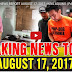 BREAKING NEWS REPORT AUGUST 17, 2017 - KRIS AQUINO   PAOLO DUTERTE   PRES. DUTERTE