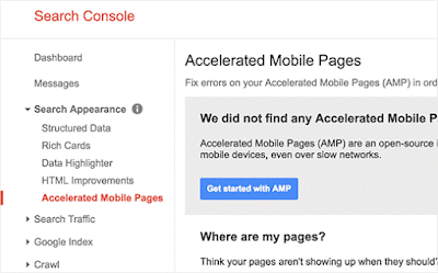 setting amp google search consule