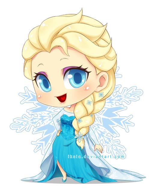 princess Elsa chibi công chúa nữ hoàng băng giá 1