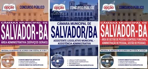 apostila CMS BA 2017 - Concurso Câmara de Salvador 2018.