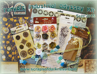 Scraps of Darkness scrapbook kits: September 2015 Tanya's Industrial Odyssey kit