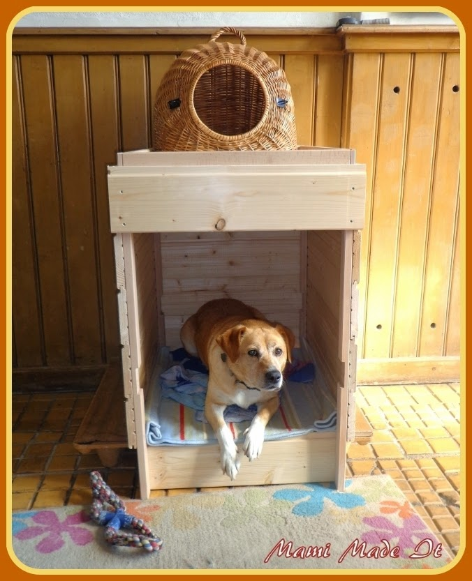 Ikea Hack Sniglar diaper-changing table into dog house