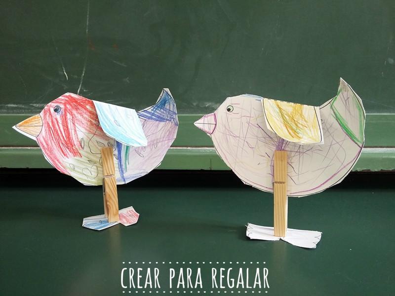 pajaros de papel manualidades para niños