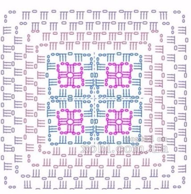 3D Crochet Blanket | Pattern step by step