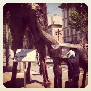 La Girafe de la Canebière à Marseille