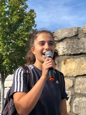 Meine mittlere Tochter Clara auf der Auftaktveranstaltung in Sinsheim am 20.09.19