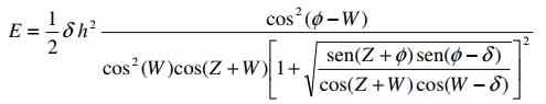fórmula de empuje pasivo según coulomb