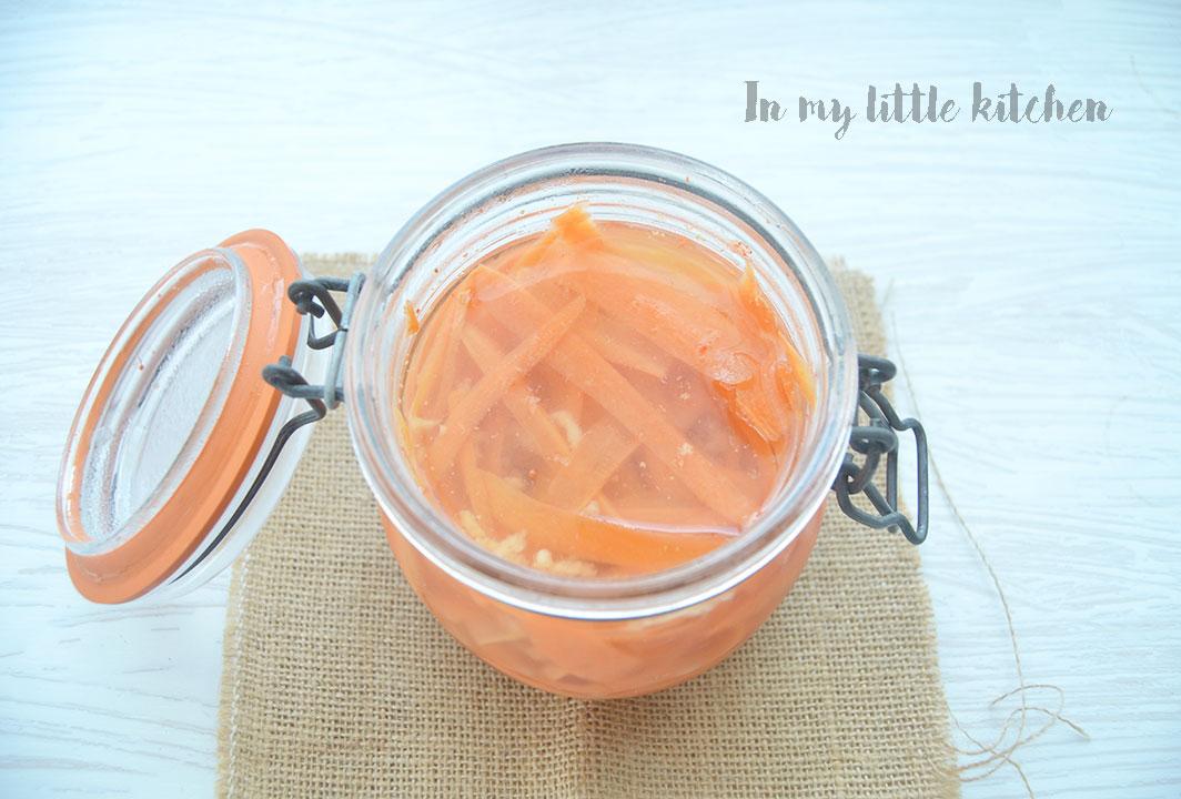 Zanahorias en vinagre