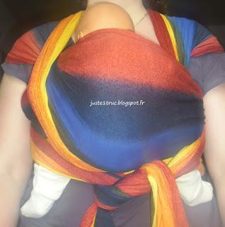 Wrapsody stretch-hybrid wrap stretch hybrid Jandrea portage écharpe