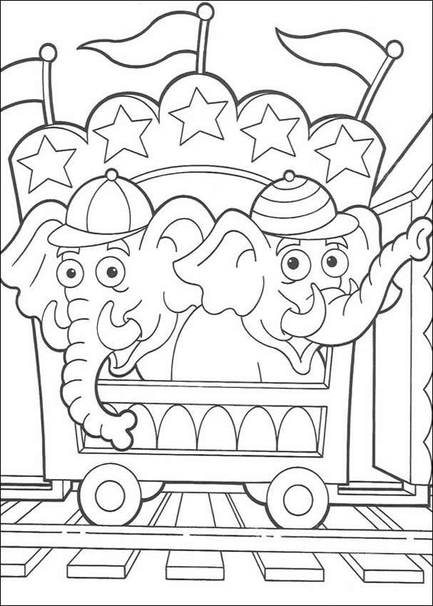 transmissionpress: Circus Elephant Coloring Pages