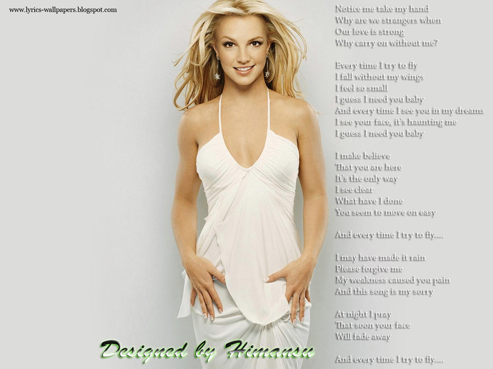 Lyrics Wallpapers Britney Spears Everytime