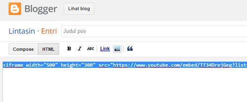 Cara Menambahkan Video ke-Dalam Postingan Blog