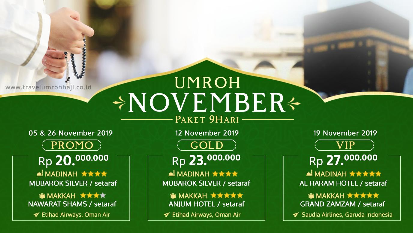 Promo Paket Umroh Biaya Murah Jadwal Bulan November 2019