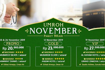 Paket Umroh November 2019 Biaya Murah Promo 20 Juta All in