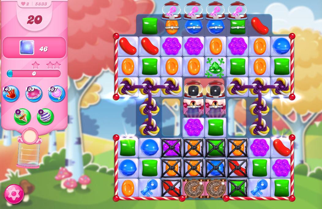 Candy Crush Saga level 5833