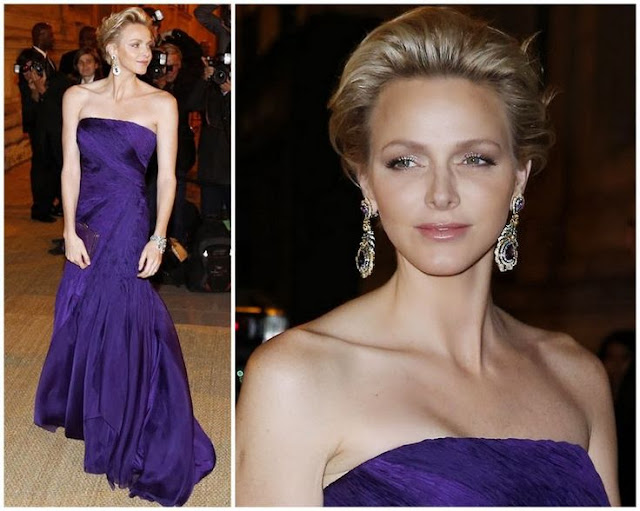 Princess Charlene  in Ralph Lauren