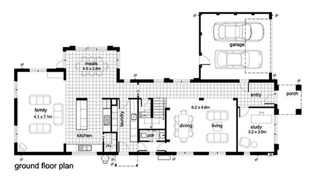 แบบบ้าน 2 ชั้นสไตล์โมเดิร์น