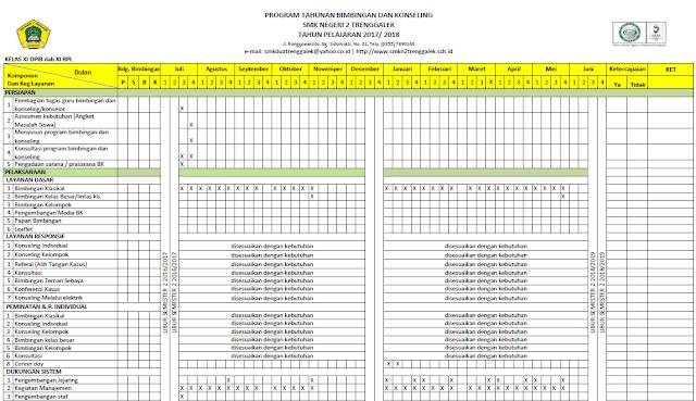 Program Bk Smk Kelas Xi Prota Promes Rpl Bk K13 Bimbingan Konseling