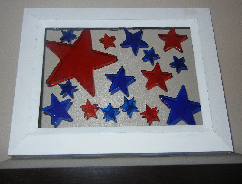 Fourth of July Picture Frame Makeover