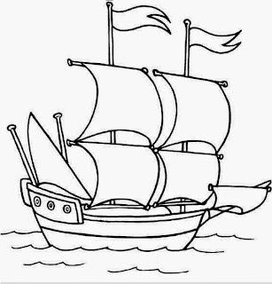 desenhos para colorir bem grandes de navio