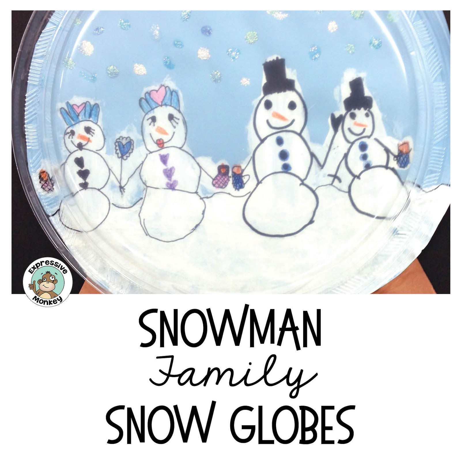 See How To Make This Snowman Family Snow Globe This Winter Craft Project Writing