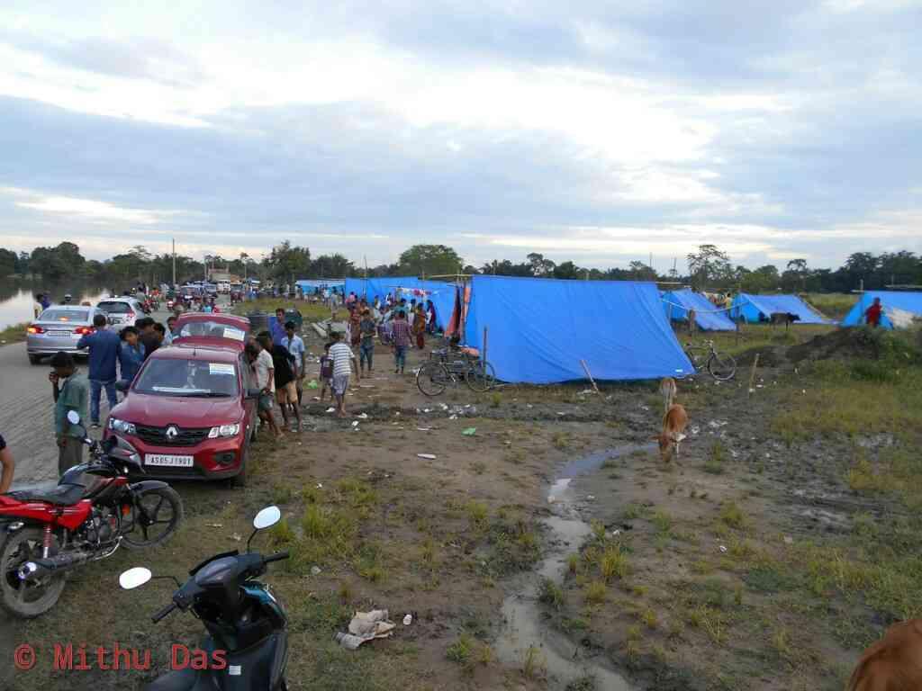 Flood relief camp, Halmira, Golaghat