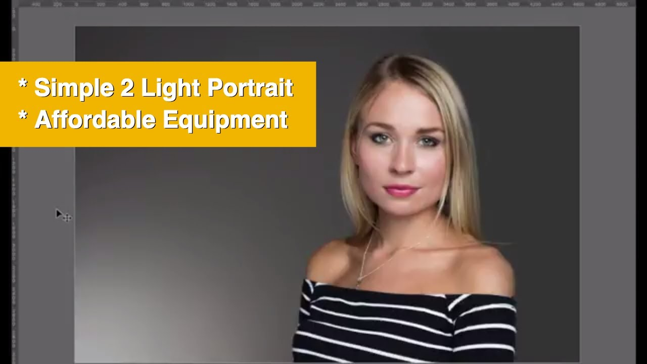 A 2-Light Beauty Portrait Using Affordable Photography Lighting