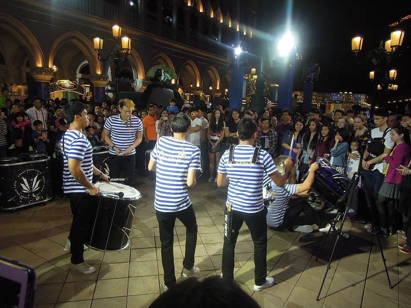 A band performing at The Venetian Macao Resort Hotel