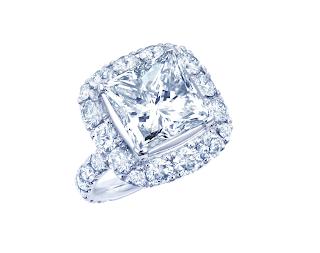 5ctのプリンセスカットダイヤモンドをリングにリスタイル(リメイク)した写真