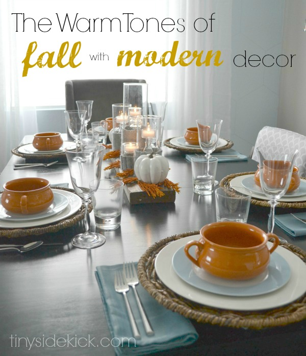 Fall table ideas modern warm tones