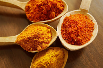 Natural face pack of turmeric and rose